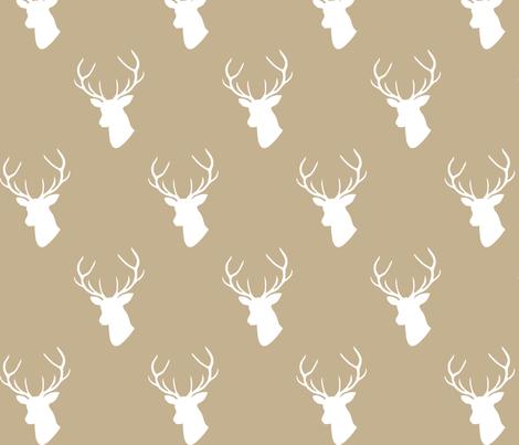 Tan Deer Silhouette fabric by mrshervi on Spoonflower - custom fabric