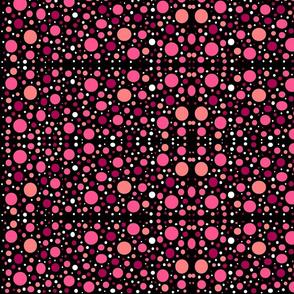 PinkMagentaPeachDotsOnBlack