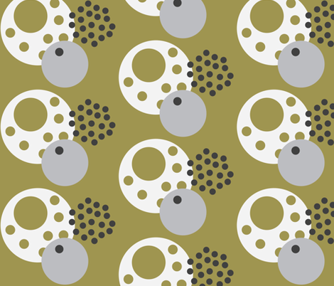 Eggdots Olive fabric by dolphinandcondor on Spoonflower - custom fabric