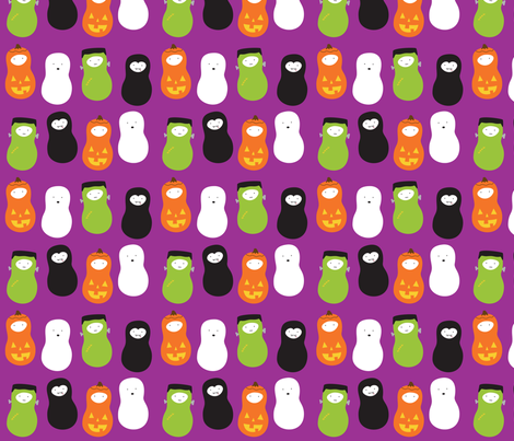 jordnöt halloween purple fabric by wildolive on Spoonflower - custom fabric