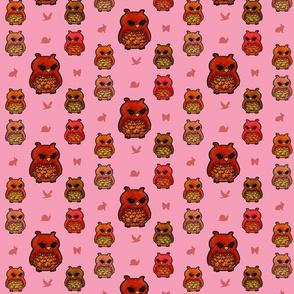 Smaller Owls Pretty Pink