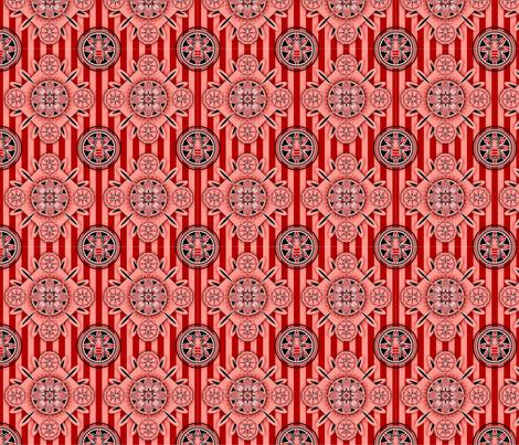 Floral_Bee_Print fabric by celestenoel on Spoonflower - custom fabric