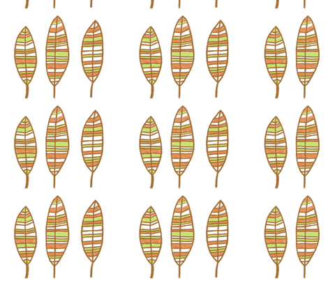 Leaves Brown fabric by balanced on Spoonflower - custom fabric