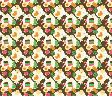 Mini Cookies for Santa fabric by wildolive on Spoonflower - custom fabric