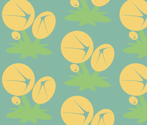fleurs like these fabric by giolou on Spoonflower - custom fabric