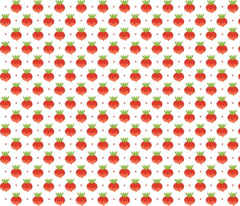 radishes fabric by anda on Spoonflower - custom fabric