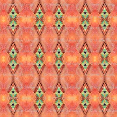 pattern Peach & Green