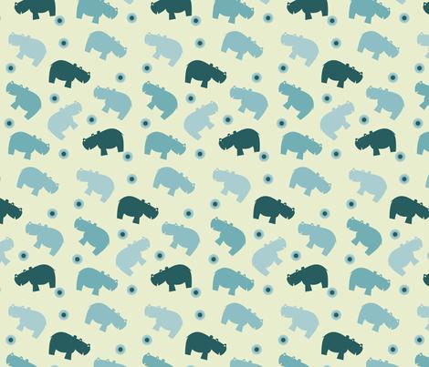 Hippopattern fabric by sukro on Spoonflower - custom fabric