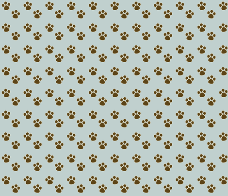 PAW_PRINTS fabric by artyfact on Spoonflower - custom fabric