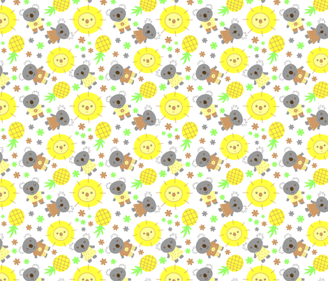 Sun Loving koalas! fabric by zoel on Spoonflower - custom fabric