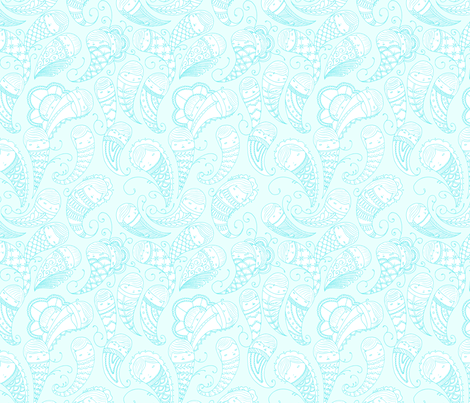 Ghostly Paisley in Ethereal fabric by beeskneesindustries on Spoonflower - custom fabric