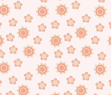 baby pink pattern fabric by suziedesign on Spoonflower - custom fabric