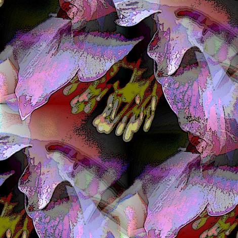 Burgundy Christmas Rose fabric by vib on Spoonflower - custom fabric