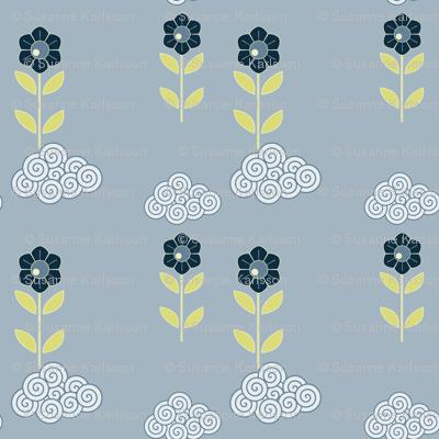flower cloud pattern