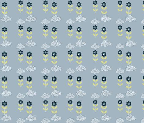 flower cloud pattern fabric by suziedesign on Spoonflower - custom fabric