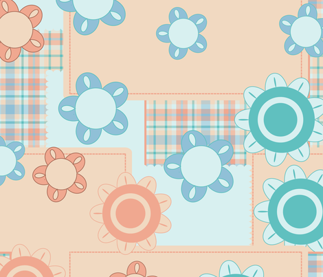 baby pattern fabric by suziedesign on Spoonflower - custom fabric