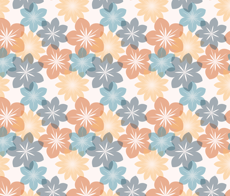 transparent flower fabric by suziedesign on Spoonflower - custom fabric