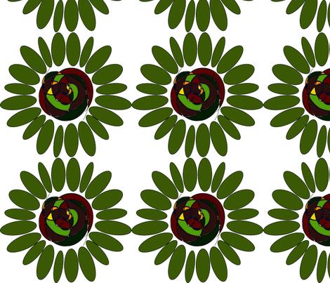 Groovy Flower fabric by angela_s on Spoonflower - custom fabric