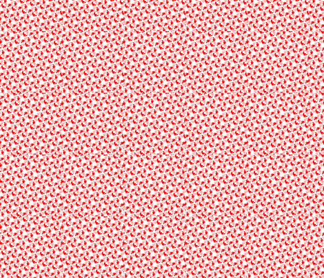 Flower-feet-pink-red-ed fabric by andsewon on Spoonflower - custom fabric