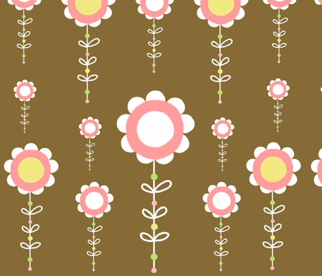 sweet flowers fabric by emilyb123 on Spoonflower - custom fabric