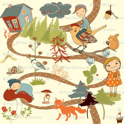 fairytale forest - cream