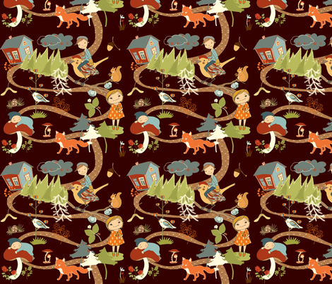 Fairytale Forest fabric by peikonpoika{by}brunou on Spoonflower - custom fabric