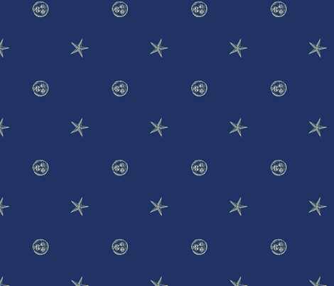 Sail to the Moon fabric by leighr on Spoonflower - custom fabric
