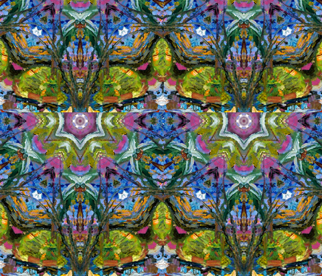 Garden Song Pattern by Ginette (Mirror Repeat) fabric by ginette on Spoonflower - custom fabric