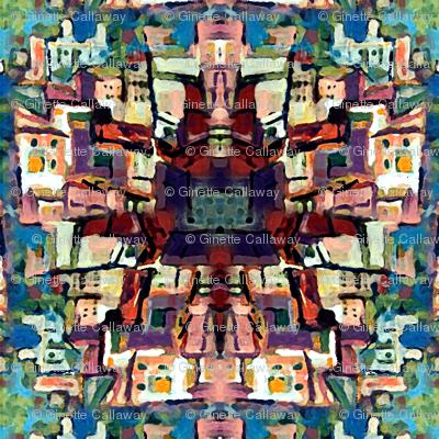 Riomaggiore Pattern by Ginette (Mirror Repeat)