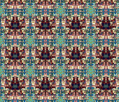 Riomaggiore Pattern by Ginette (Mirror Repeat) fabric by ginette on Spoonflower - custom fabric