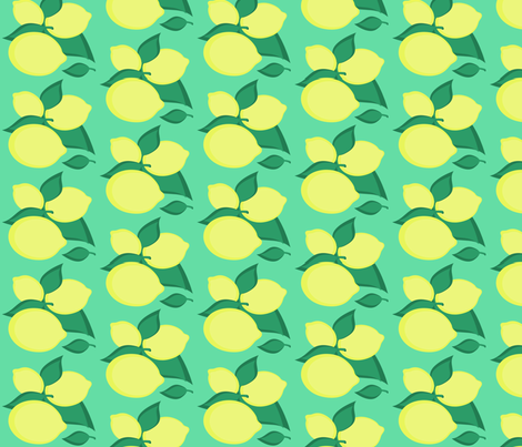 lemon fabric by giolou on Spoonflower - custom fabric