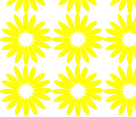 Daisy fabric by angela_s on Spoonflower - custom fabric