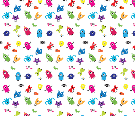 Oneeyz pattern fabric by sukro on Spoonflower - custom fabric