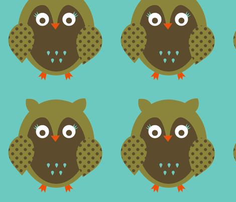 owl-single1 fabric by petunias on Spoonflower - custom fabric