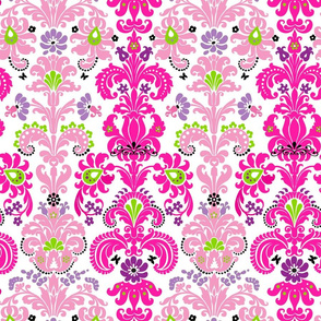 Enchanted Fuchsia Damask