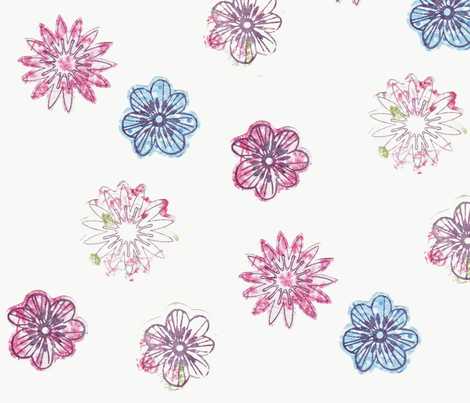 Early Spring Bloom fabric by sequingirlie on Spoonflower - custom fabric