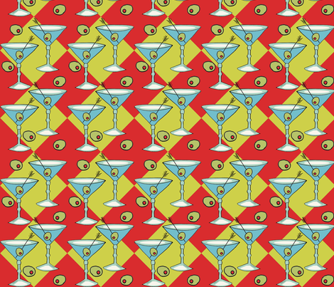 martiniglassfabric3 fabric by flirtbuttons on Spoonflower - custom fabric