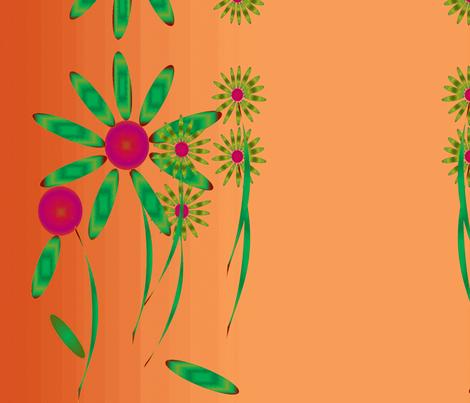Flowers-Autumn fabric by dragonflyfae on Spoonflower - custom fabric