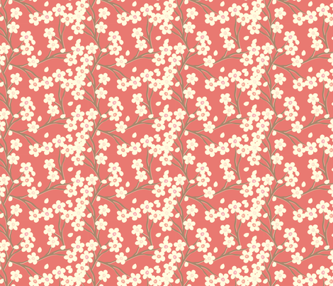 cherry_red fabric by cottageindustrialist on Spoonflower - custom fabric