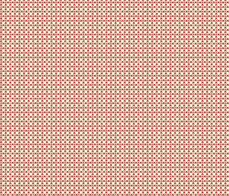 Gingham_Invaded-RED fabric by voodoorabbit on Spoonflower - custom fabric