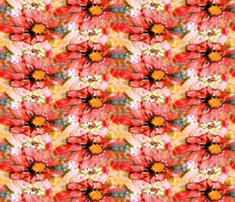 Pink Daisy by Ginette (Basic Repeat) fabric by ginette on Spoonflower - custom fabric