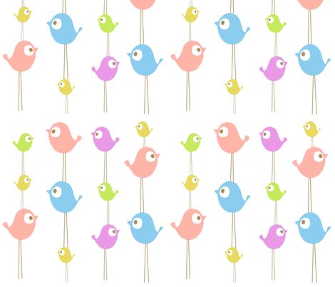 tweet stack fabric by emilyb123 on Spoonflower - custom fabric