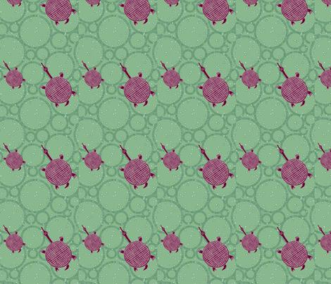 Tribal Turtle- 052 fabric by kkitwana on Spoonflower - custom fabric