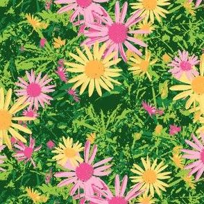 Wild Daisy - Crocodile Green