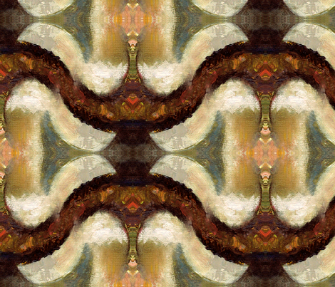 Antique in Brown by Ginette (Basic or Mirror repeat) fabric by ginette on Spoonflower - custom fabric