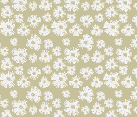 Paper Daisy - Lovely Linen fabric by kristopherk on Spoonflower - custom fabric