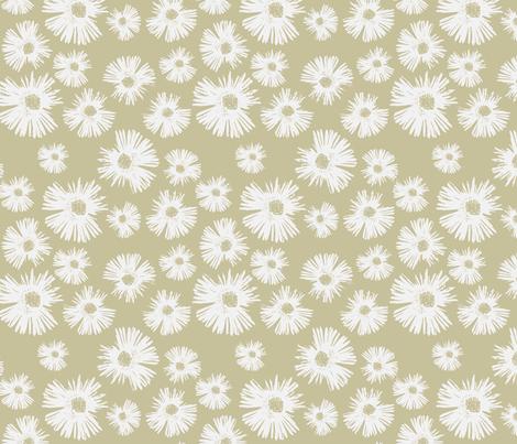 Paper Daisy - Lovely Linen fabric by kristopherk on Spoonflower - custom fabric