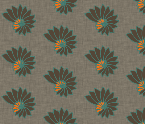 nautilus_orange_and_grey fabric by holli_zollinger on Spoonflower - custom fabric