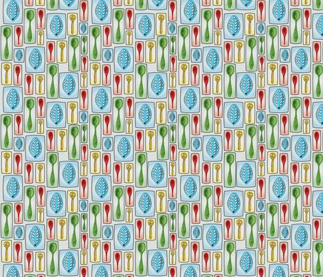 Kitchen Spoons fabric by circlesandsticks on Spoonflower - custom fabric