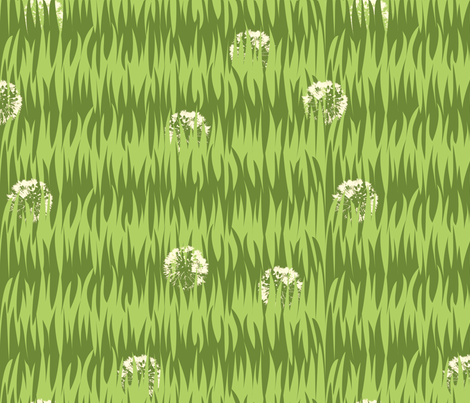 Grassy fabric by tammikins on Spoonflower - custom fabric